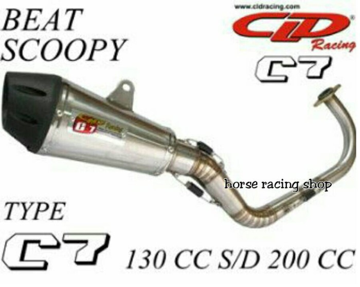 harga Knalpot racing beat scoopy 130cc cld racing type c7 Tokopedia.com