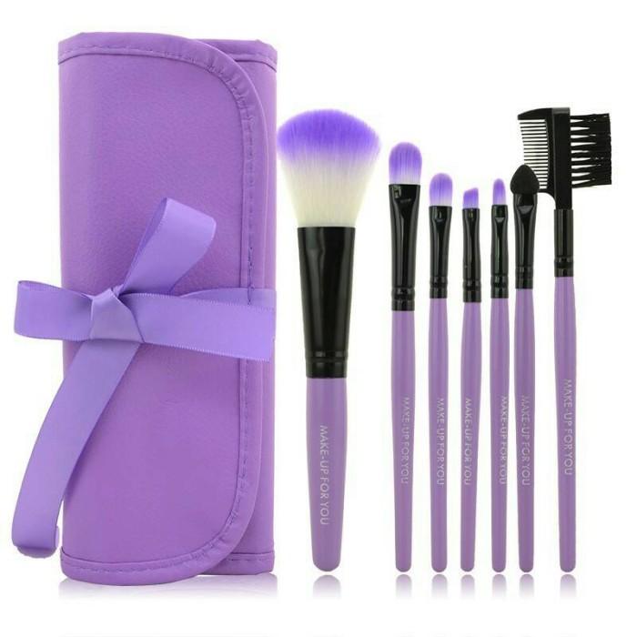 harga Cosmetic make up brush 7 set with tie case / kuas make up Tokopedia.com