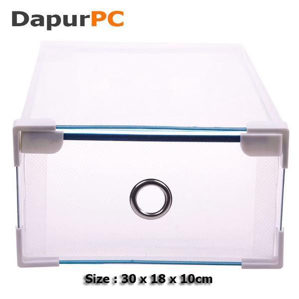 harga Kotak sepatu transparan sisi & ring metal dan sudut pelindung plastik Tokopedia.com