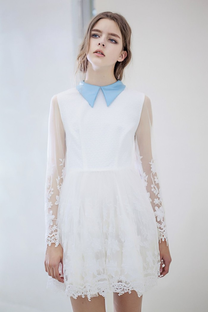 harga 40139 baju pesta simple cantik anggun classic lace brokat dress butik Tokopedia.com