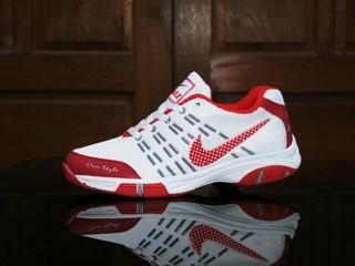 Jual Sepatu Badminton Nike Airmax Own Style Putih Merah Sport Pria ... 3b2b98138d