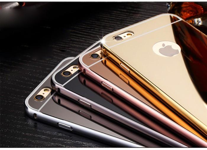 harga Iphone 6/6s (4.7 ) | bumper plat mirror | backcase | hardcase | cover Tokopedia.com