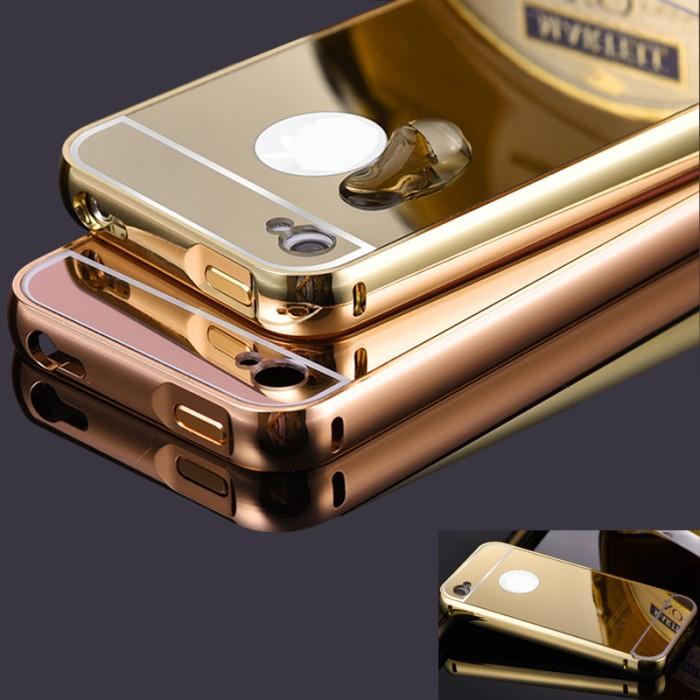 harga Iphone 4/4s | bumper plat mirror | backcase | hardcase | cover Tokopedia.com