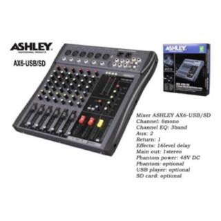 harga Murah !!! Mixer Ashley Ax6 Usb Player / Sd Card ( 6 Channel ) Tokopedia.com