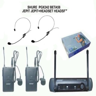 harga Harga murah !!! mic wireless shure pgx 242 clip on + headset Tokopedia.com