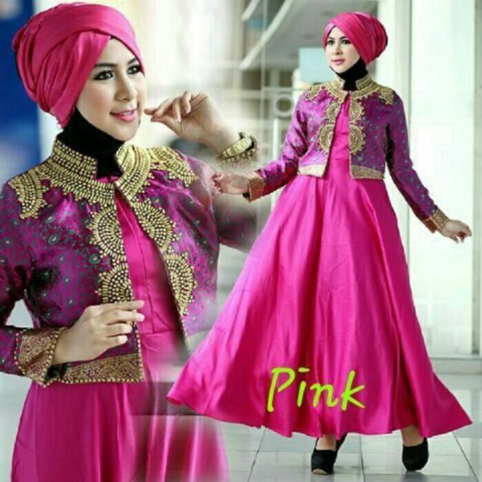 Jual Gamis Dian Pelangi Pink Jakarta Utara Dp Collections Tokopedia