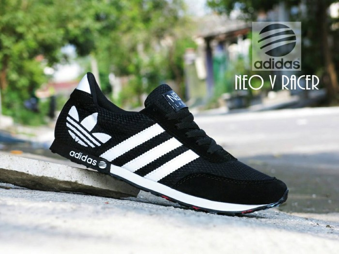 Jual Sepatu Sport Adidas Neo V Racer Grade Ori Hitam Putih   Casual ... e7d7fac1e3