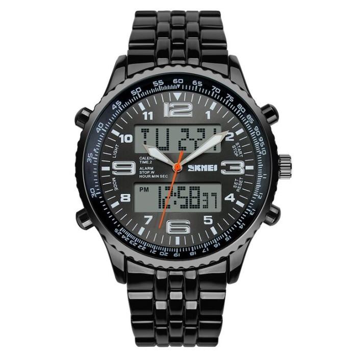 Jam tangan skmei casio untuk pria waterproof black