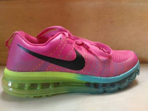 new concept 089e8 6268a Sepatu Nike Air Max Flyknit Women KW Super Pink Blue Green . ...