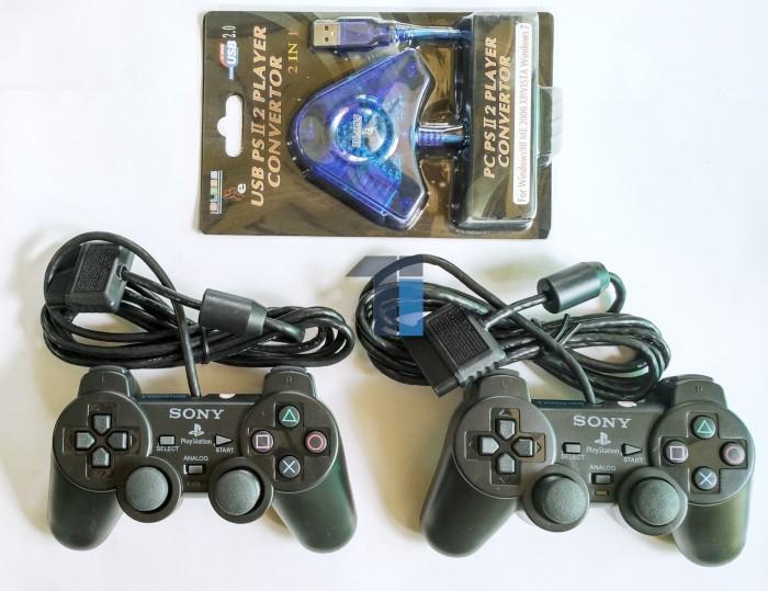 harga Paket 2 stik ps2 (ori pabrik) + converter Tokopedia.com