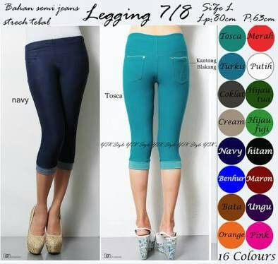 Jual Celana Legging 7 8 Semi Jeans Kota Depok Ratu Boutique Tokopedia