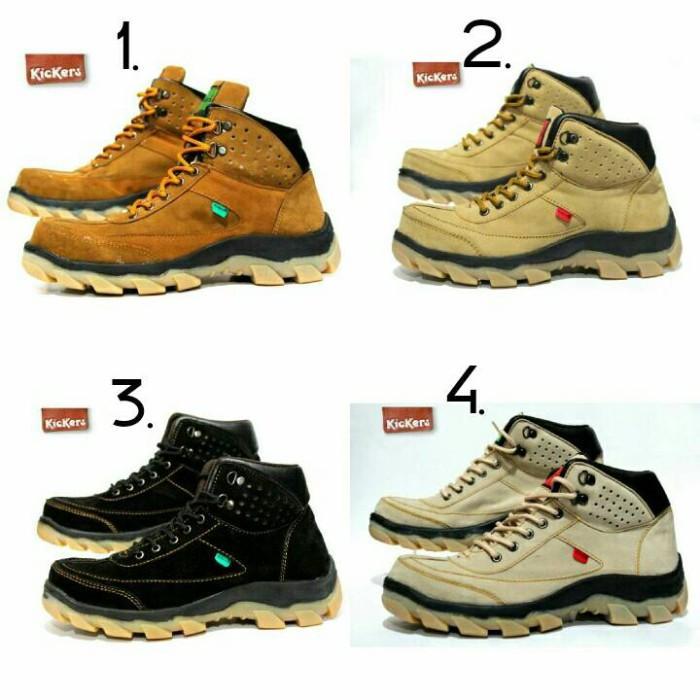 harga Sepatu Kickers Brembo Safety Shoes Kulit Suede (4 Model Warna) Tokopedia.com
