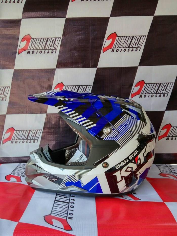harga Helm Trail Motocross Kyt Cross Over #drift Blue Tokopedia.com