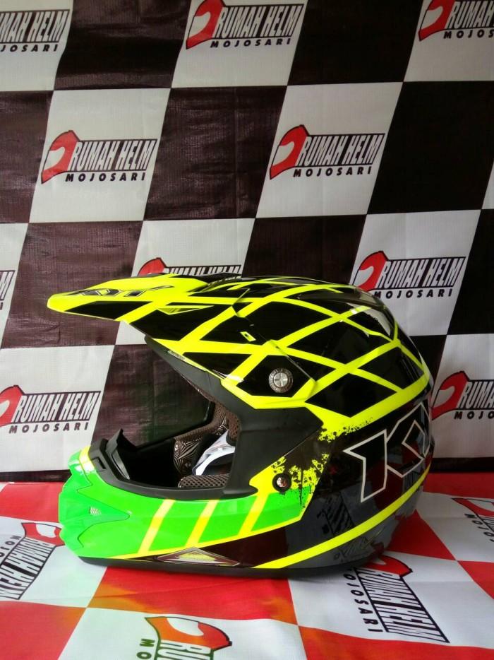 harga Helm trail motocross kyt cross over #net yellow fluo Tokopedia.com