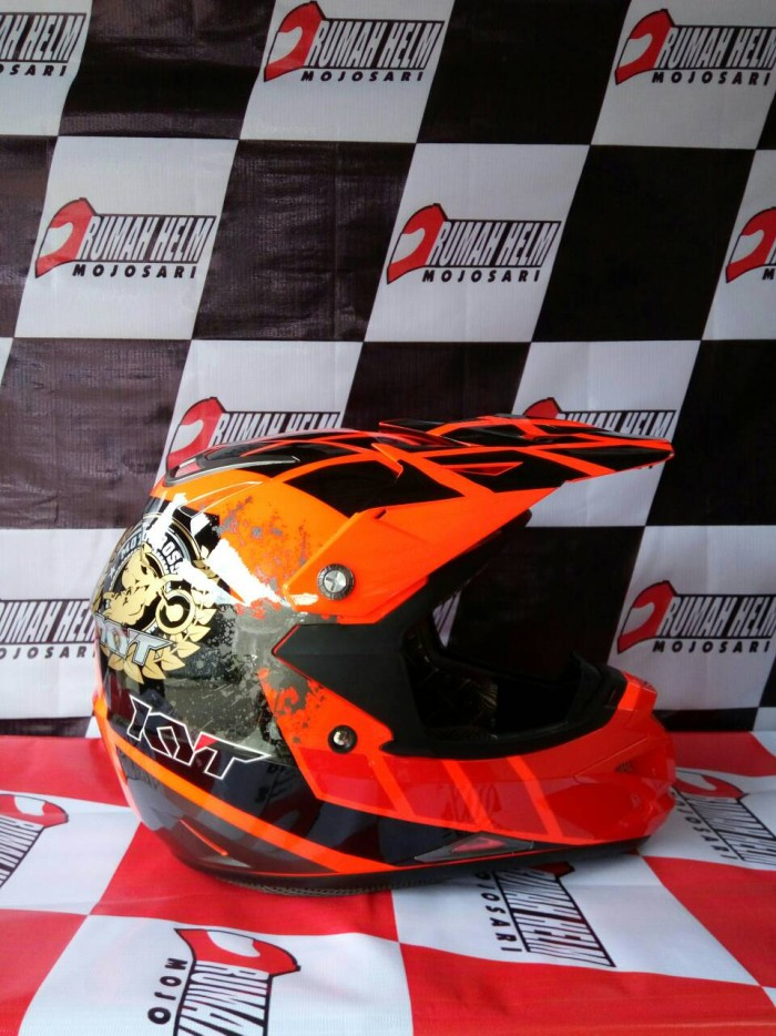 harga Helm trail motocross kyt cross over #net red fluo Tokopedia.com