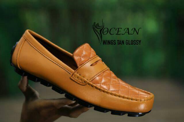Foto Produk Ocean wings tan original / sepatu casual / sepatu slop pria dari hana shoes