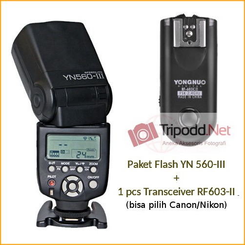 harga Paket Flash Yn 560-iii Dan 1pcs Transceiver Rf 603-ii Tokopedia.com