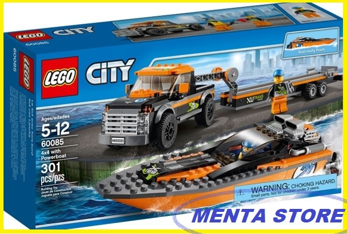 Jual Lego City 60085 4x4 With Powerboat 4 X Power Boat Kapal