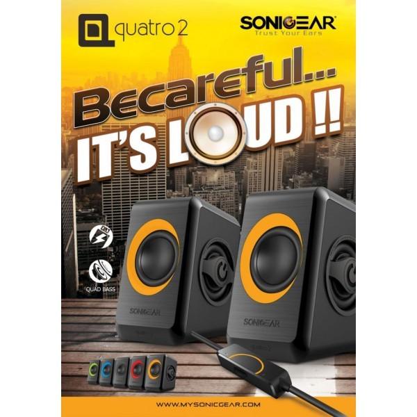 SONIC GEAR Speaker USB 2.0 Quatro 2