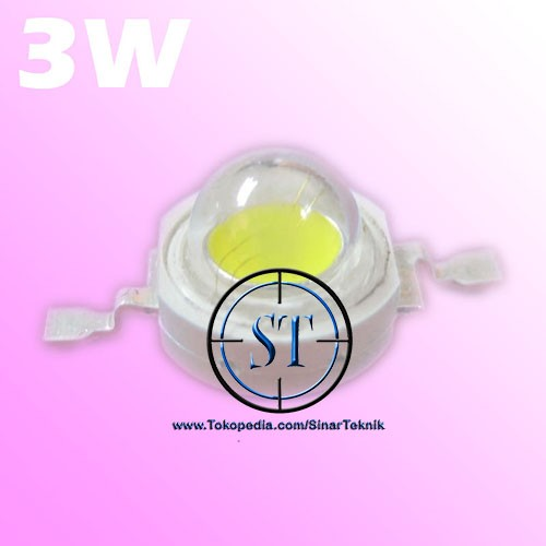Foto Produk High Power LED 3W White Emitter Bead - Biji LED Super Bright dari SinarTeknik