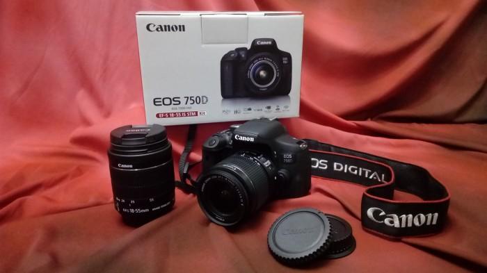 harga Canon Eos 750d (wi-fi) + Kit Lens Dslr Camera Tokopedia.com