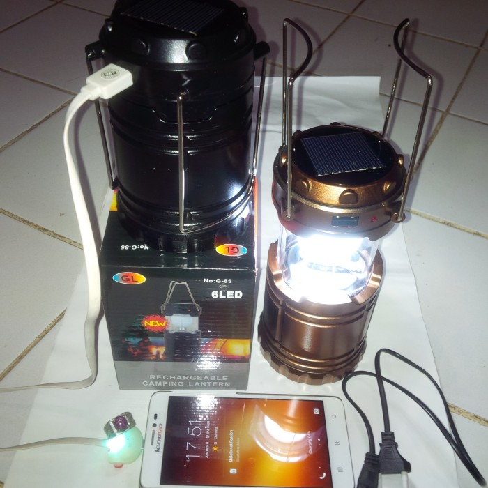 Senter Solar Cell Camping Lamp Lampu Tarik Travel Portable Emergency. Source ·