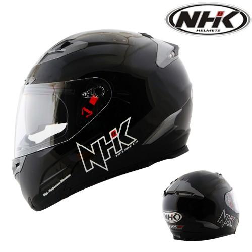 Helm NHK RX 9 Black Solid Full Visor Fullface