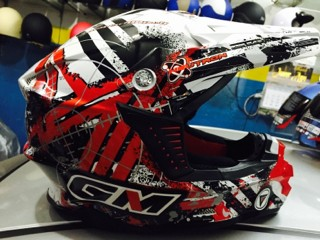harga Helm gm cross trail - red oil Tokopedia.com