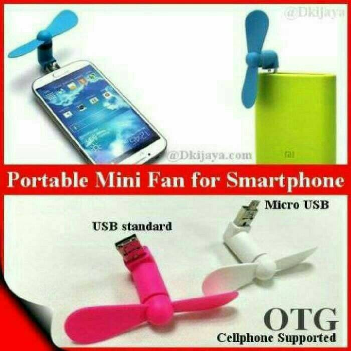 Kipas Angin Mini USB OTG Micro 2in1 Iphone Android Mini Fan