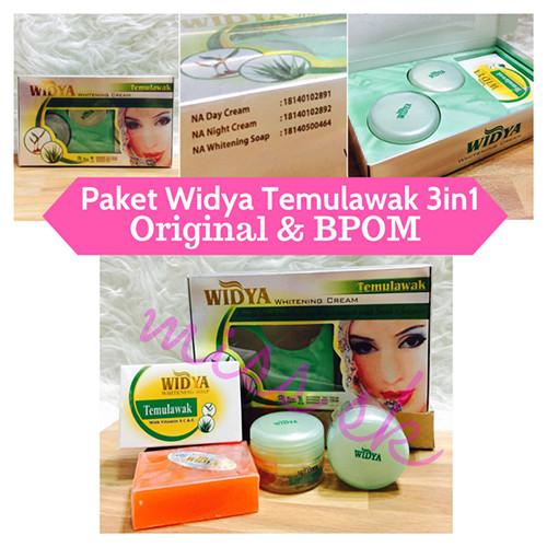 BPOM Paket Cream Widya 3 in 1 Temulawak Whitening Krim 3in1