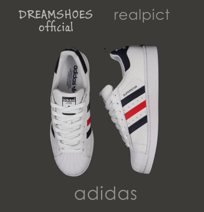 promo code eee22 c3e36 ... new zealand sepatu adidas superstar white black maroon stripes import  vietnam 93566 8b152