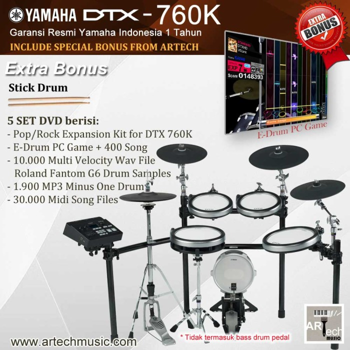 harga Drum elektrik yamaha dtx760 / dtx760k / dtx 760 / dtx 760k Tokopedia.com