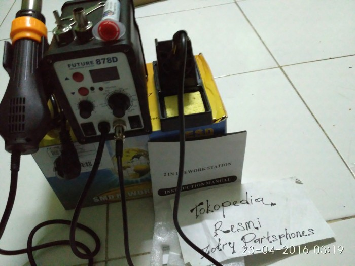 harga Blower (solder uap) future 878d digital (2 in 1) original Tokopedia.com