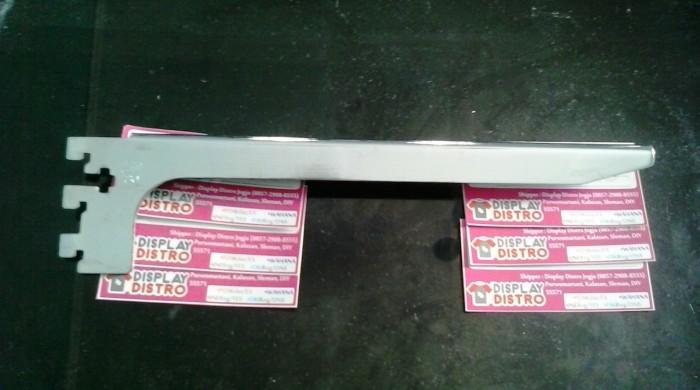 harga Daun bracket kayu ambalan rak 30cm stainless display distro pajangan Tokopedia.com
