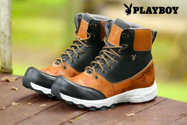 harga Sepatu playboy genuine boots leather / sepatu pria king  safety murah Tokopedia.com