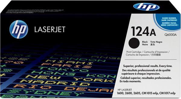 Comp Black Laser Toner Cartridge for HP 6000A 124A Color LaserJet 1600 2600n