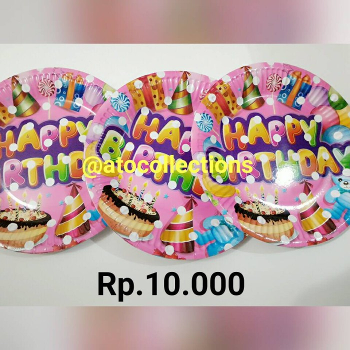 Jual Piring Kue Ulang Tahun Lucu Jakarta Pusat Ato Collections Tokopedia