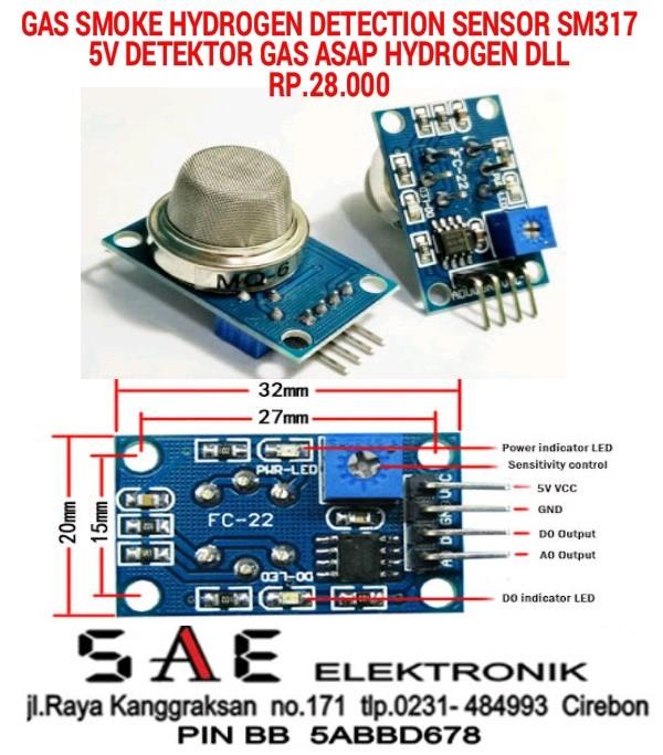 harga Module gas smoke lpg helium sensor detection deteksi asap gas  sm 317 Tokopedia.com