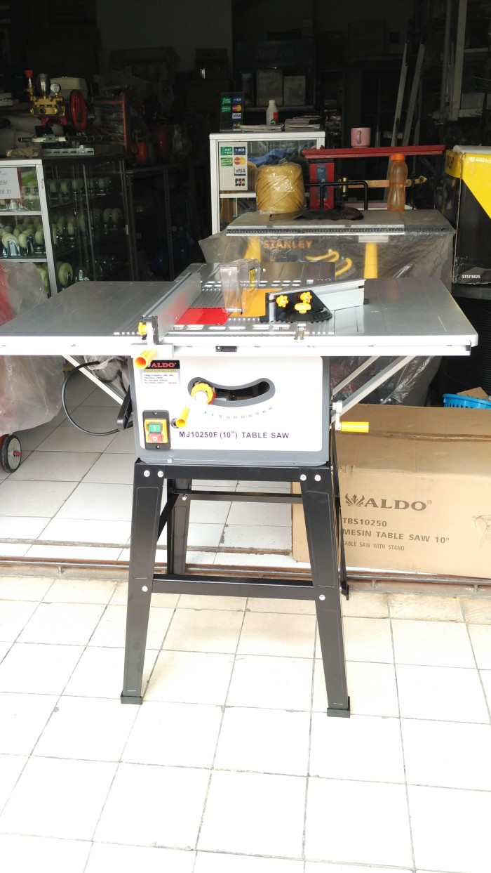 harga Aldo mj10250 table saw 10 inch mesin gergaji circular meja Tokopedia.com