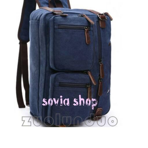 harga Tas ransel kanvas 3in1 /tas selempang kanvas/tas punggung/tas kain Tokopedia.com