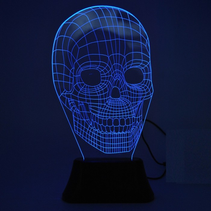 harga Lampu Desain Tengkorak Portable 3d Illusion Skull Shape Night Lamp Led Tokopedia.com