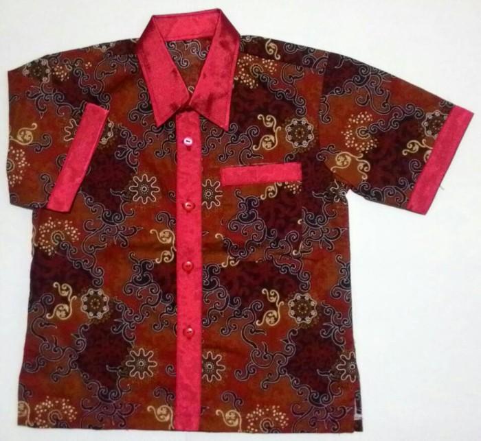 Jual Kemeja Batik Anak Cowok Baju Batik Kombinasi BA14