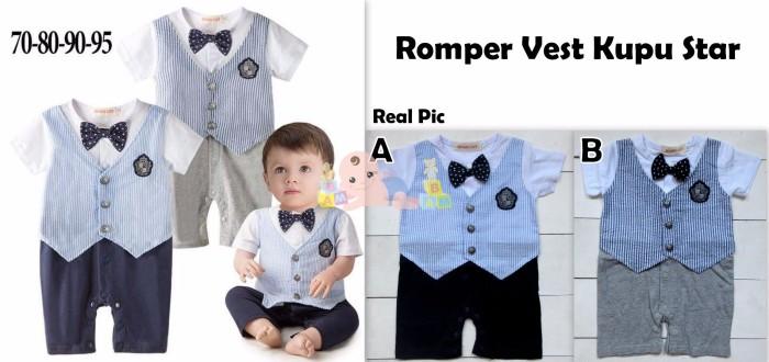 harga Romper tuxedo - romper vest kupu star Tokopedia.com