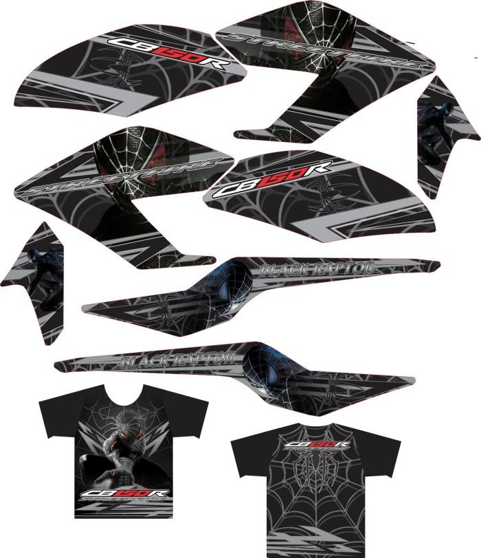 harga Sticker All New Cb150r Striping + Kaos Jersey Black Spiderman Tokopedia.com