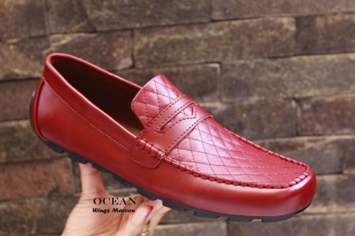 Foto Produk Ocean Wings Maroon Original / Sepatu Casual Pria / Sepatu Slop Pria dari hana shoes