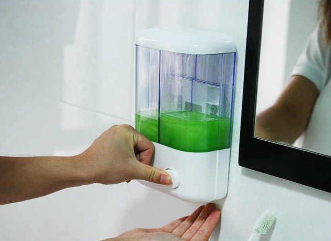 harga 2 in 1 liquid dispenser soap 2 tabung dispenser sabun manual Tokopedia.com