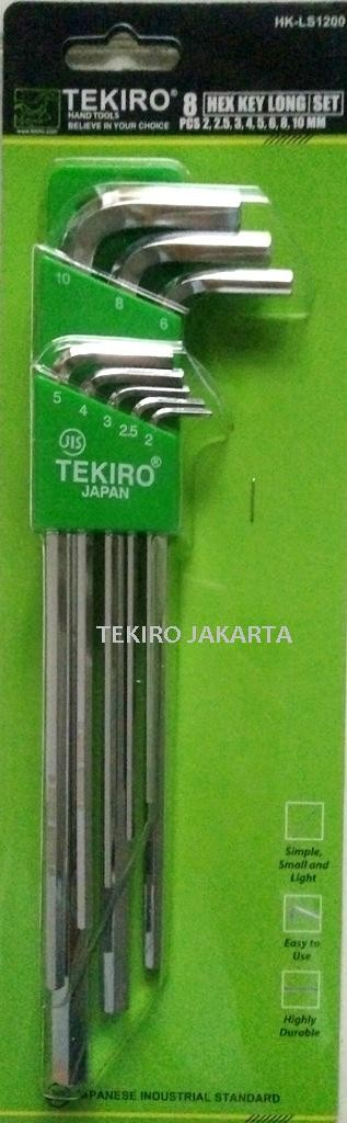 Tekiro Kunci L Panjang - Hex Key Long Set 8 pcs 2 - 10 mm