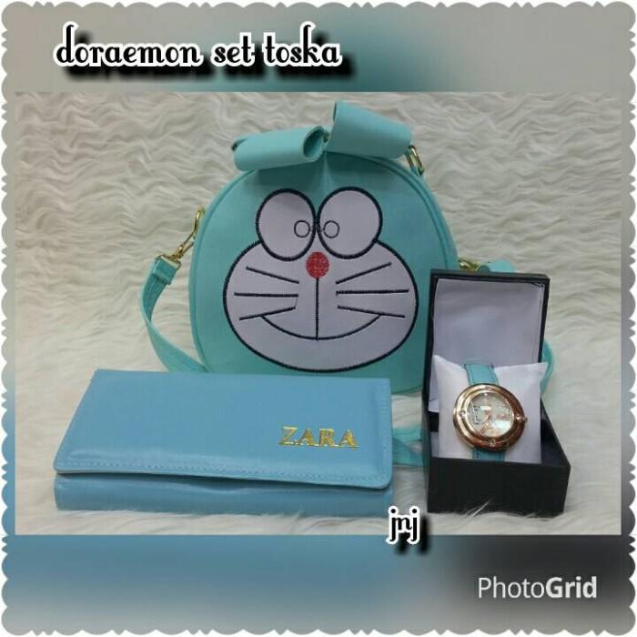 harga Tas lokal  tas murah  tas paket murah doraemon set toska Tokopedia. d02fd6ef32