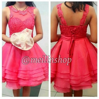 Jual Gaun Pesta Premium Dress Pesta Mewah Gaun Import Tali Pendek