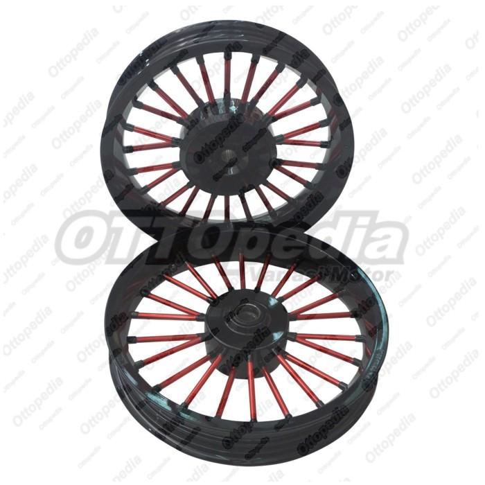 harga Velg pelek racing tapak lebar power andong pcx 150 cc hitam merah Tokopedia.com